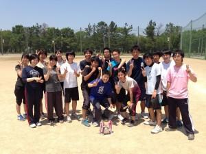 優勝した1年生チーム
