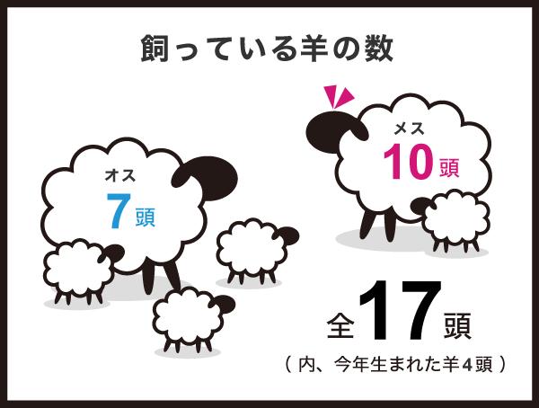 飼っている羊の数